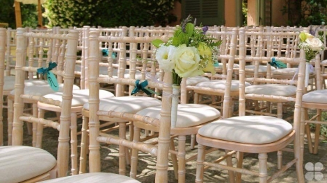 Furniture hire for baptisms in Corfu - Chiavari