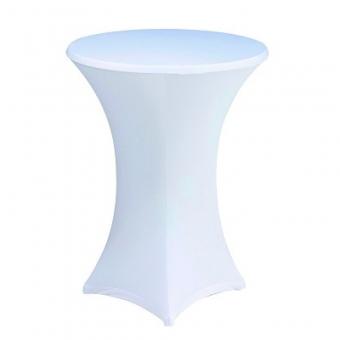 Tablecloths for rent in Corfu - Κάλλυμα Stretch για τραπέζι Cocktail Φ80 Χ 110