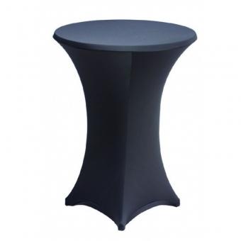Tablecloths for rent in Corfu - Μαύρο κάλλυμα Stretch για τραπέζι Cocktail Φ80 Χ 110
